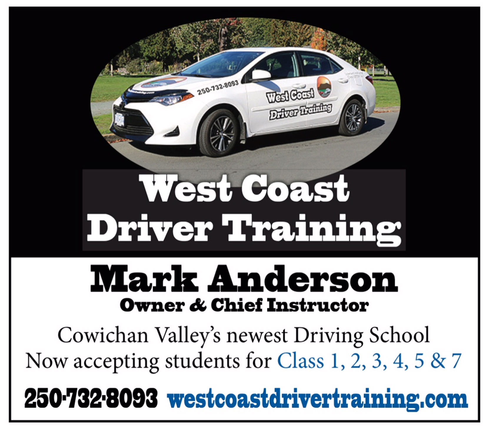 Our advertisement in the Cowichan Valley Citizen, 23 November 2018