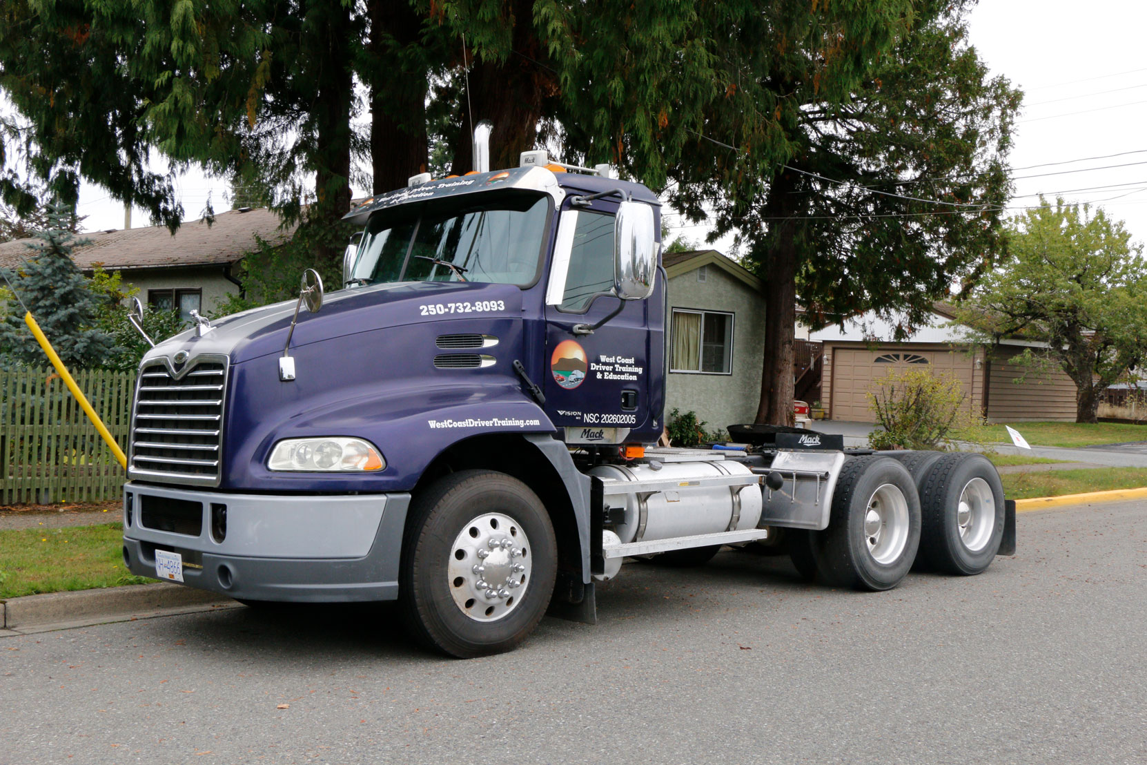 Our Mack Vision day cab which we use for Class 3 training.