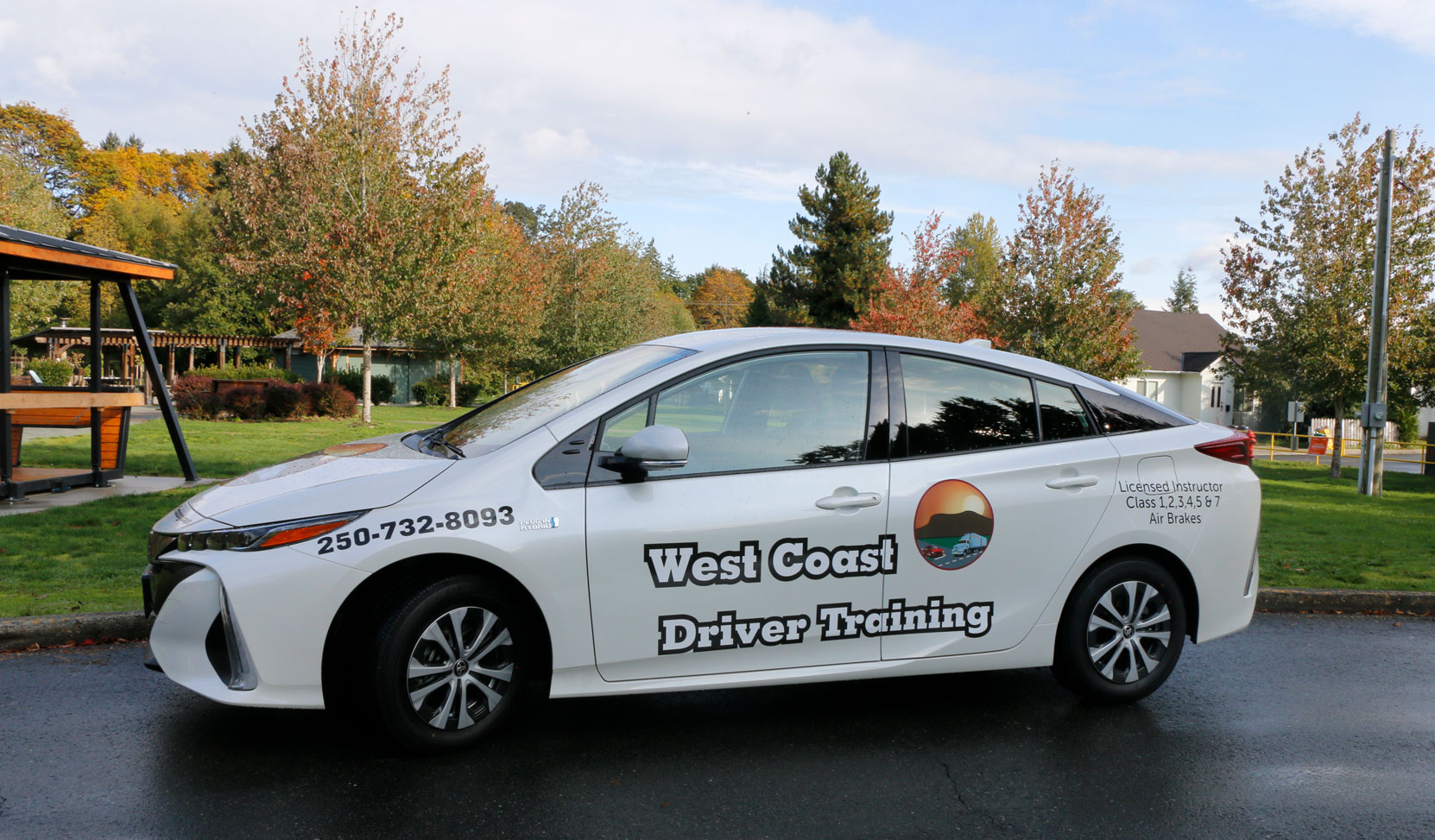 Our 2020 Toyota Prius Prime is now available for lessons (photo: West Coast Driver Training)