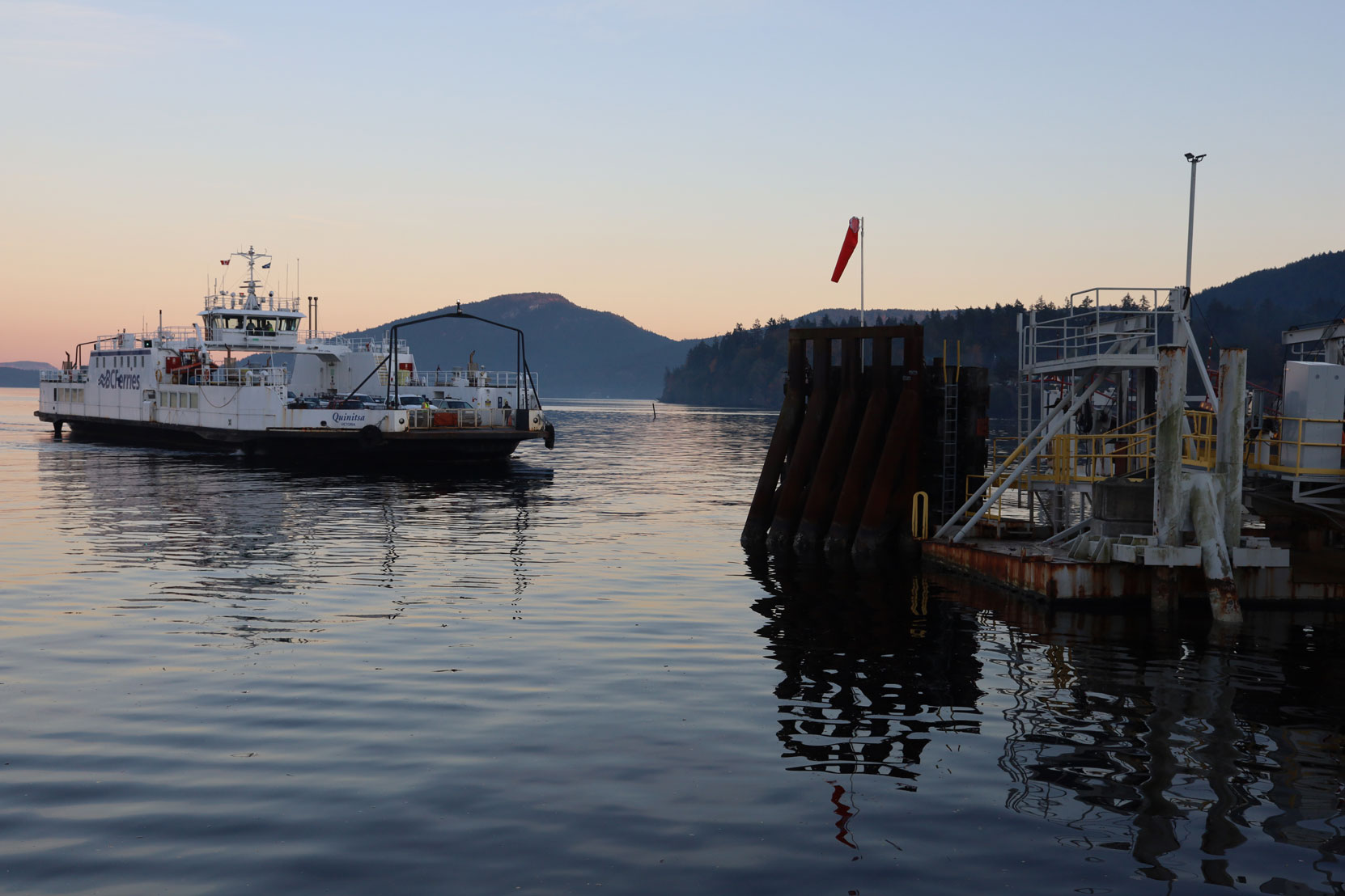 The Salt Spring Island ferry approaching the Crofton terminal (photo: West Coast Driver Training)