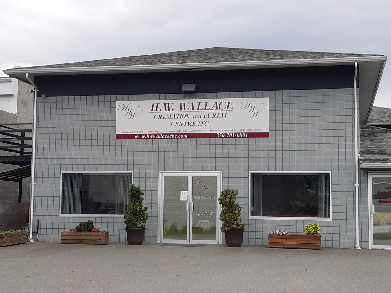 H.W. Wallace Cremation and Burial Centre, 5285 Polkey Road, Duncan, BC (photo: West Coast Driver Training)
